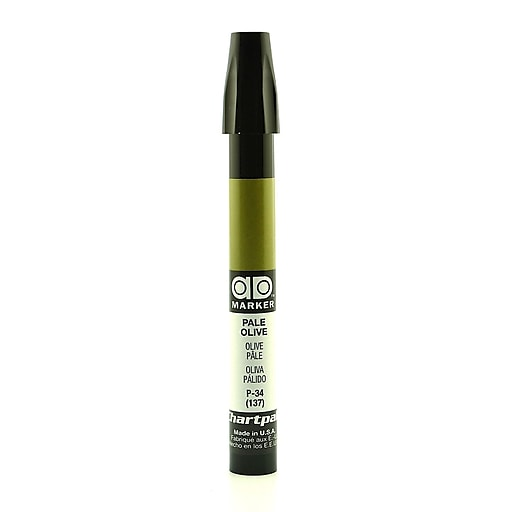 Chartpak AD Marker, Pale Olive, Tri-Nib [Pack of 6]