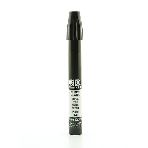 Chartpak AD Marker, Super Black, Tri-Nib [Pack of 6]