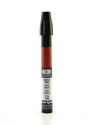 Chartpak AD Marker, Brick Red, Tri-Nib [Pack of 6]