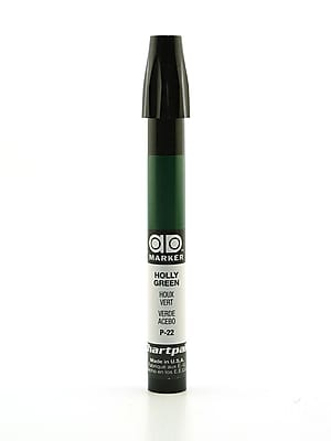 Chartpak AD Marker, Holly Green, Tri-Nib [Pack of 6]