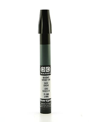 Chartpak AD Marker, Basic Gray 5, Tri-Nib [Pack of 6]