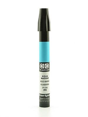 Chartpak AD Marker, Aquamarine, Tri-Nib [Pack of 6]