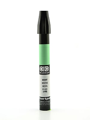 Chartpak AD Marker, Mint, Tri-Nib [Pack of 6]