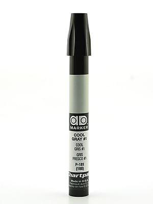 Chartpak AD Marker, Cool Gray 1, Tri-Nib [Pack of 6]