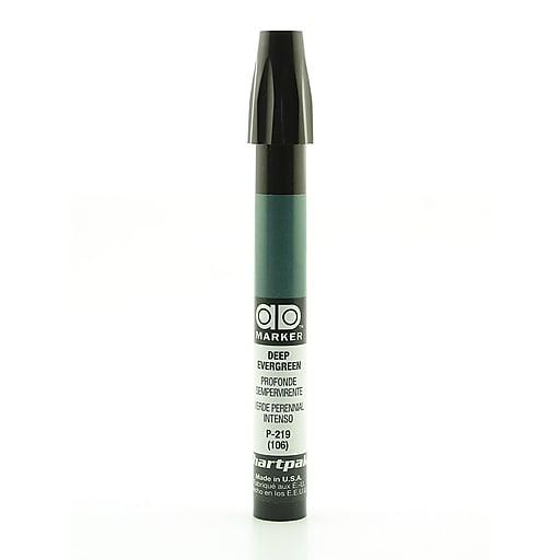 Chartpak AD Marker, Deep Evergreen, Tri-Nib [Pack of 6]