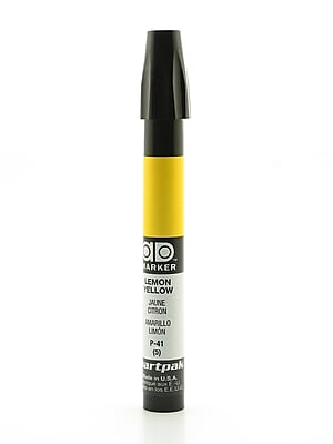 Chartpak AD Marker, Lemon Yellow, Tri-Nib [Pack of 6]