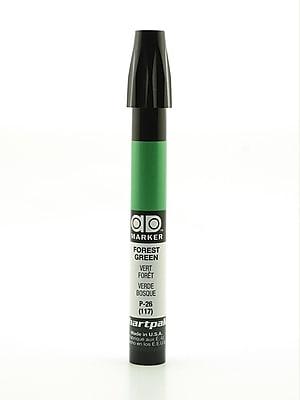 Chartpak AD Marker, Forest Green, Tri-Nib [Pack of 6]