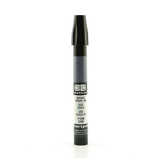 Chartpak AD Marker, Basic Gray 4, Tri-Nib [Pack of 6]
