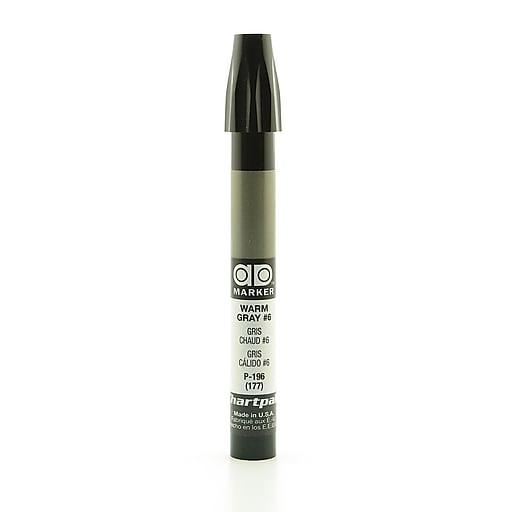 Chartpak AD Marker, Warm Gray 6, Tri-Nib [Pack of 6]