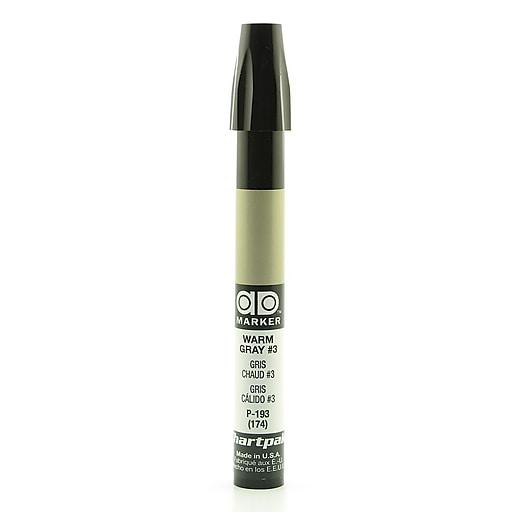Chartpak AD Marker, Warm Gray 3, Tri-Nib [Pack of 6]