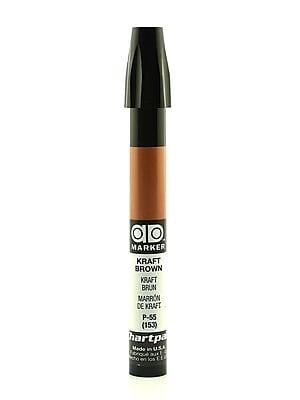 Chartpak AD Marker, Kraft Brown, Tri-Nib [Pack of 6]