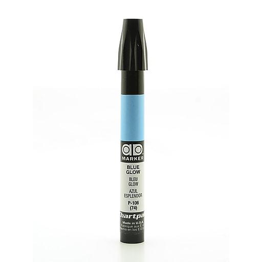 Chartpak AD Marker, Blue Glow, Tri-Nib [Pack of 6]