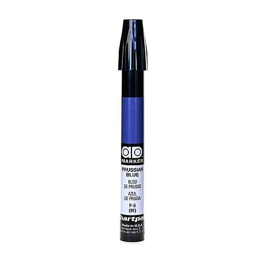 Chartpak AD Marker, Prussian Blue, Tri-Nib [Pack of 6]