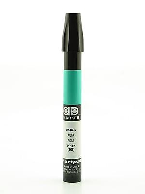 Chartpak AD Marker, Aqua, Tri-Nib [Pack of 6]
