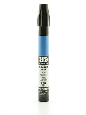 Chartpak AD Marker, Electric Blue, Tri-Nib [Pack of 6]