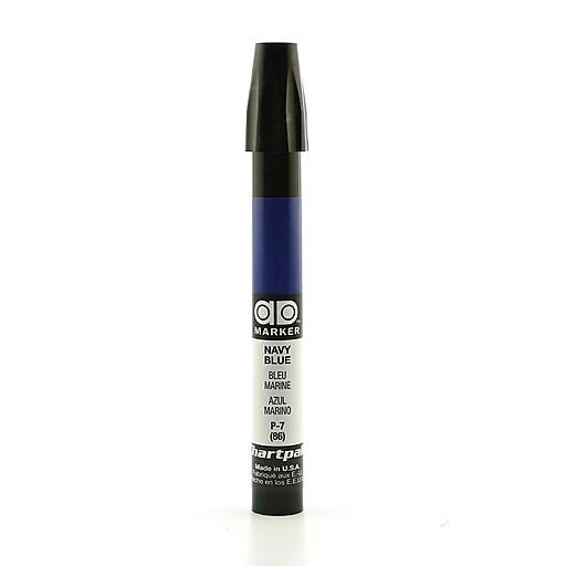 Chartpak AD Marker, Navy Blue, Tri-Nib [Pack of 6]