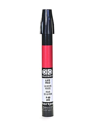 Chartpak AD Marker, Life Red, Tri-Nib [Pack of 6]