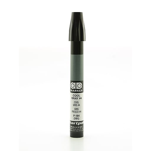 Chartpak AD Marker, Cool Gray 4, Tri-Nib [Pack of 6]