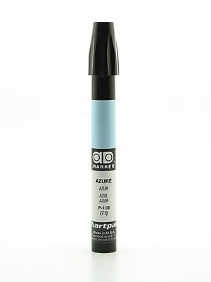 Chartpak AD Marker, Azure, Tri-Nib [Pack of 6]