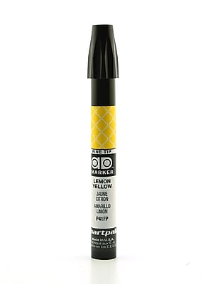 Chartpak AD Marker, Lemon Yellow, Fine Point Nib [Pack of 6]
