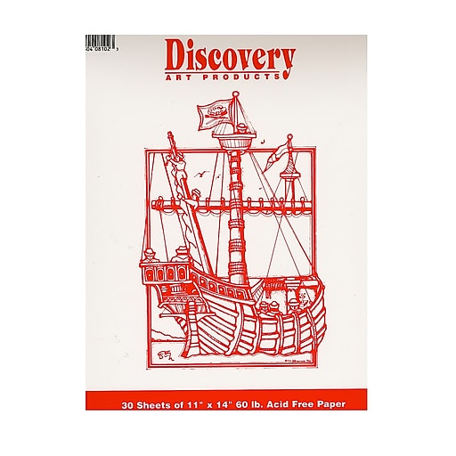 Discovery Sketching Pads 11in x 14in, 30 Sheets, 4/Pack (15130-PK4)