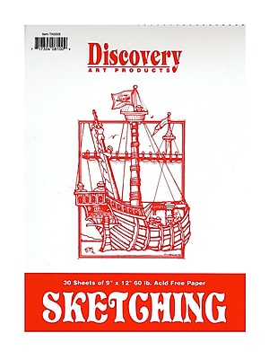 Discovery Sketching Pads 9 in. x 12 in. 30 sheets [Pack of 6]