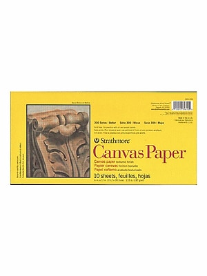 Strathmore 300 Series Canvas Pads 6 in. x 12 in. 10 sheets [Pack of 4]
