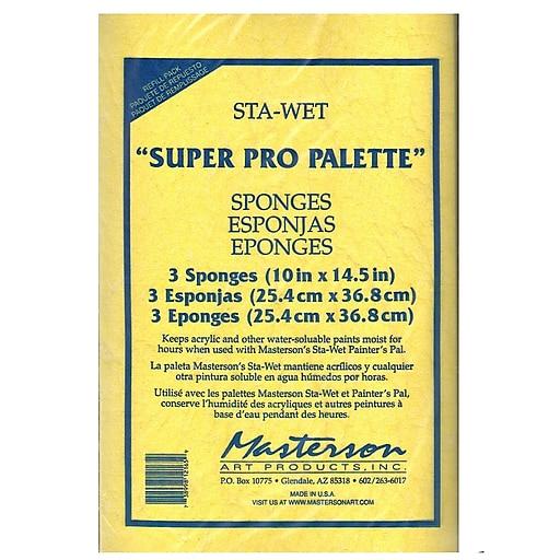 Masterson Sta-Wet Super Pro Palette Sponge Refill [Pack of 2]