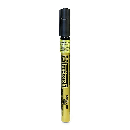 Sakura Pen-Touch Marker 0.7 mm extra fine gold [Pack of 4]