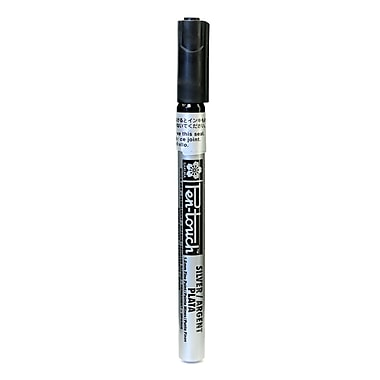 Sakura Pen-Touch Marker, 1.0mm, Fine, Silver, 4/Pack (55794-PK4)