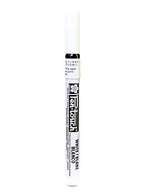Sakura Pen-Touch Marker, 0.7mm, Extra Fine, White, 4/Pack (61307-PK4)