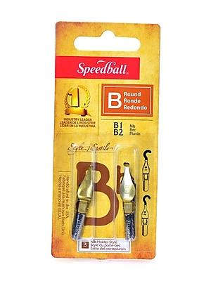 Speedball Round Pen Nibs B-1, B-2 pack of 2 [Pack of 6]
