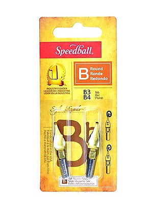 Speedball Round Pen Nibs B-3, B-4 pack of 2 [Pack of 6]