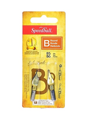 Speedball Round Pen Nibs B-5, B-6 pack of 2 [Pack of 6]