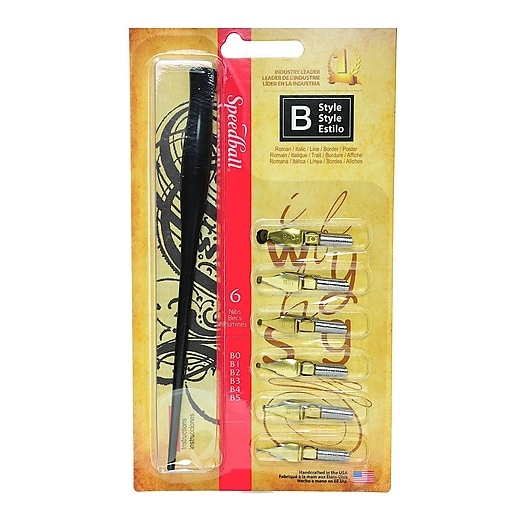 Speedball Round Pen Nibs assorted set of 6 [Pack of 2]