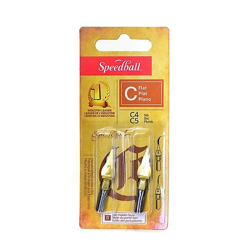 Speedball Flat Pen Nibs C-4, C-5 pack of 2 [Pack of 6]