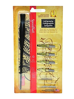 Speedball Flat Pen Nibs, Assorted, 4/Set, 2/Pack (39540-PK2)