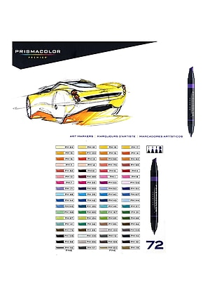 Prismacolor Marker Sets, Assorted Set of 72 (41016)