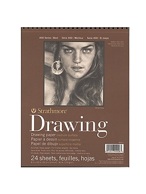 Strathmore 400 Series Drawing Paper Pad 8 in. x 10 in. [Pack of 6]