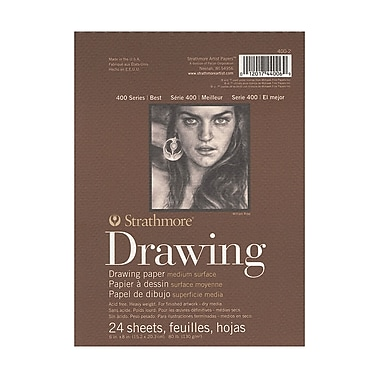 Strathmore 400 Series Drawing Paper Pad 6 in. x 8 in. [Pack of 6]
