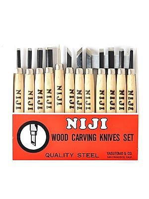 Yasutomo 47534 Niji Woodcarving Set