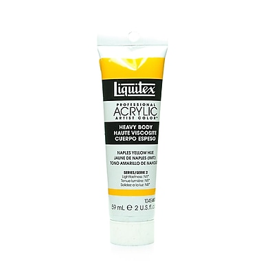 Liquitex Heavy Body Professional Artist Naples Yellow Hue Acrylic Colors Naples, 2oz, 2/Pack (11784-PK2)