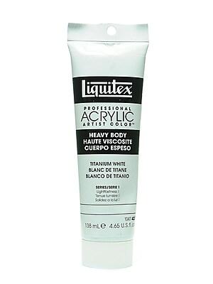 Liquitex Heavy Body Professional Artist Acrylic Colors, Titanium White, 4.65oz (13591)