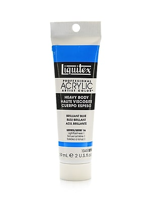 Liquitex Heavy Body Professional Artist Acrylic Colors, Brilliant Blue, 2oz, 3/Pack (19189-PK3)