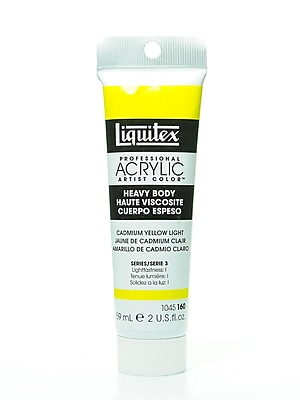 Liquitex Heavy Body Professional Artist Acrylic Colors cadmium yellow light 2 oz.