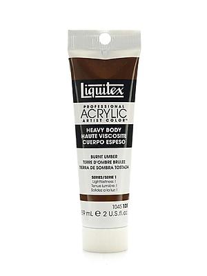 Liquitex Heavy Body Professional Artist Acrylic Colors burnt umber 2 oz. [Pack of 3]