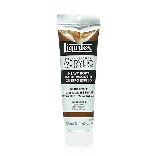 Liquitex Heavy Body Professional Artist Acrylic Colors burnt umber 4.65 oz.