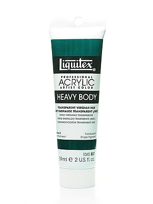 Liquitex Heavy Body Professional Artist Acrylic Colors transparent viridian hue 2 oz. [Pack of 2]