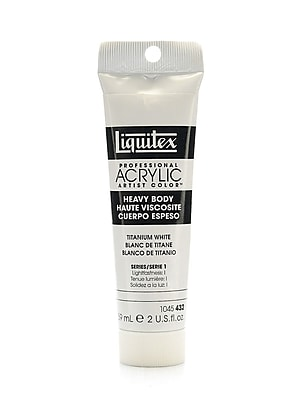 Liquitex Heavy Body Professional Artist Acrylic Colors titanium white 2 oz. [Pack of 3]