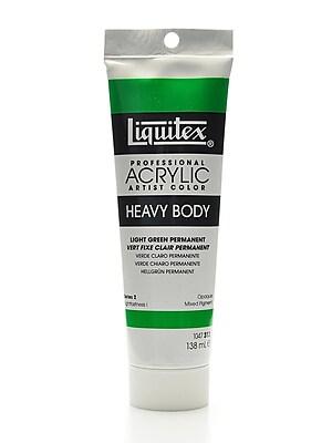 Liquitex Heavy Body Professional Artist Acrylic Colors, Light Green Permanent, 4.65oz (56960)